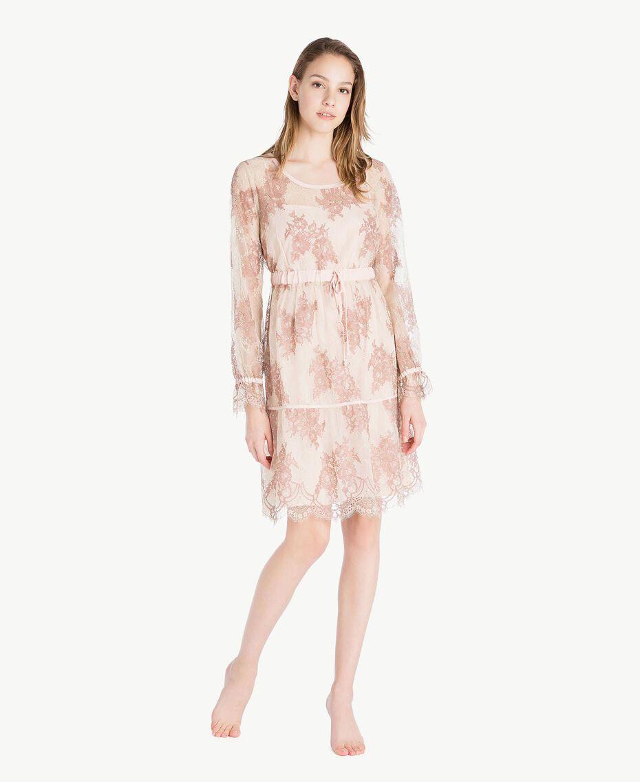 "Lace nightdress ""Dusty Cream"" Beige Lace Woman LS8FGG-02"