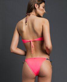 Bikini 'Elettra x Twinset' Fluorescent Pink / Leopard Print Woman 191TQM021-03