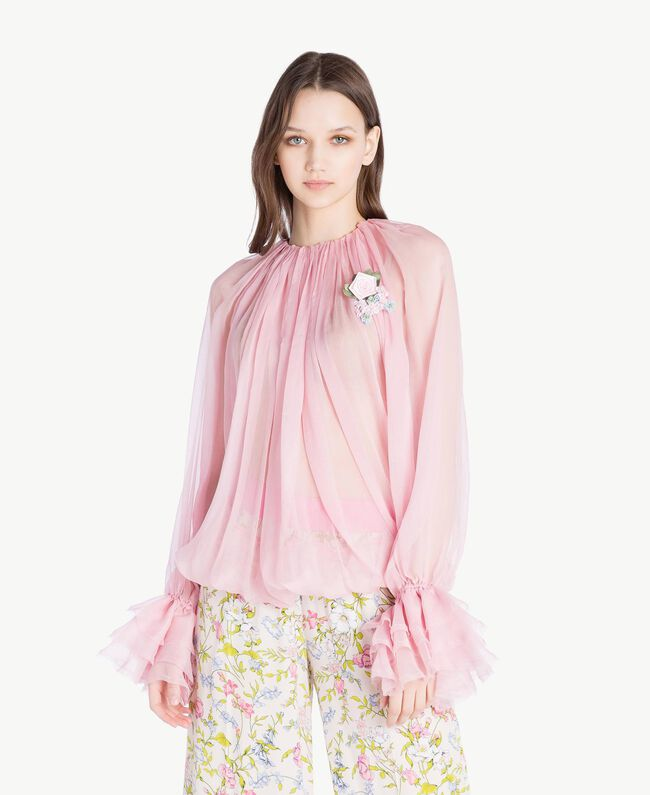 Blouse soie Rose Hortensia Femme PS8221-01