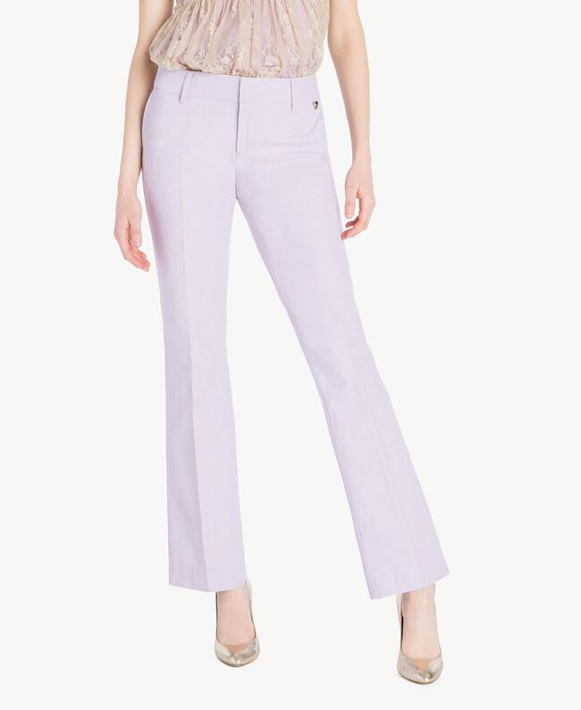 Canvas trousers Violet Woman PS824S-01
