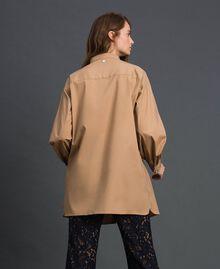 Long poplin shirt with gatherings White Woman 192ST2071-03