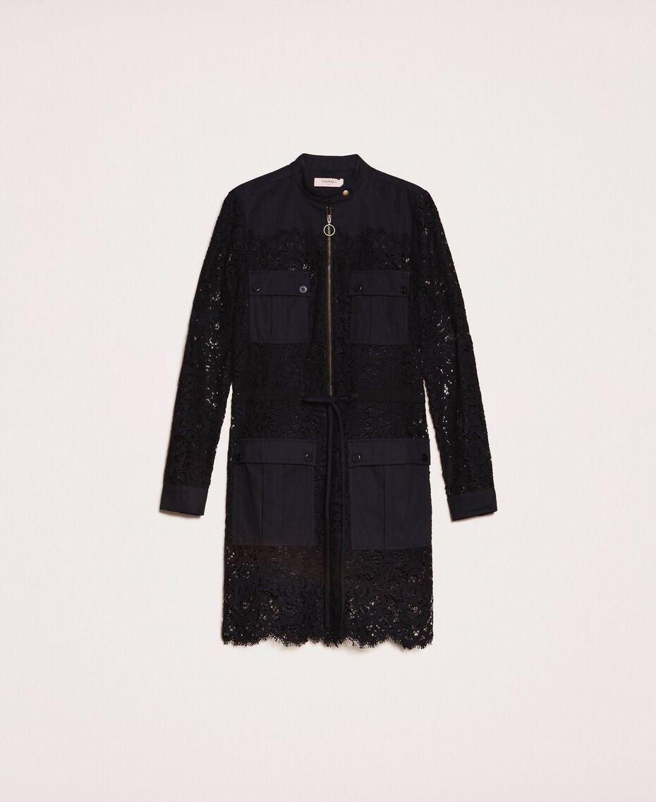 Macramé lace dress Black Woman 201TP2196-0S
