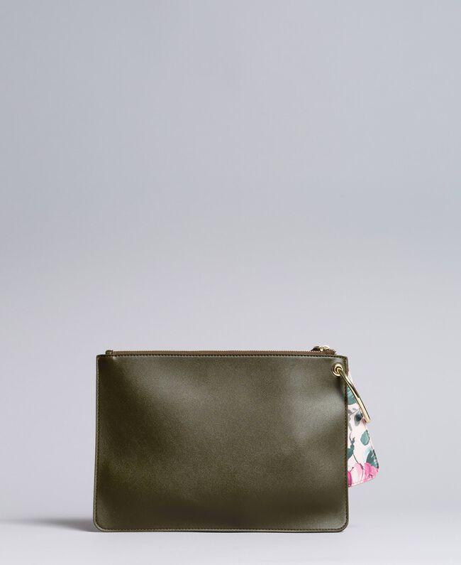 Deux pochettes en similicuir Bicolore Vert / Rose Femme VA8PGP-03