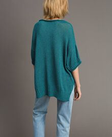 Pull oversize avec fentes Bleu Céramique Femme 191TT3150-03