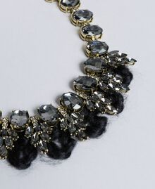 Rhinestones and bezels choker Black Woman AA8P7X-02