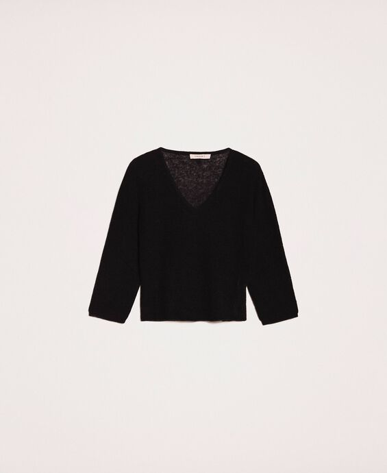 Mohair blend cropped jumper