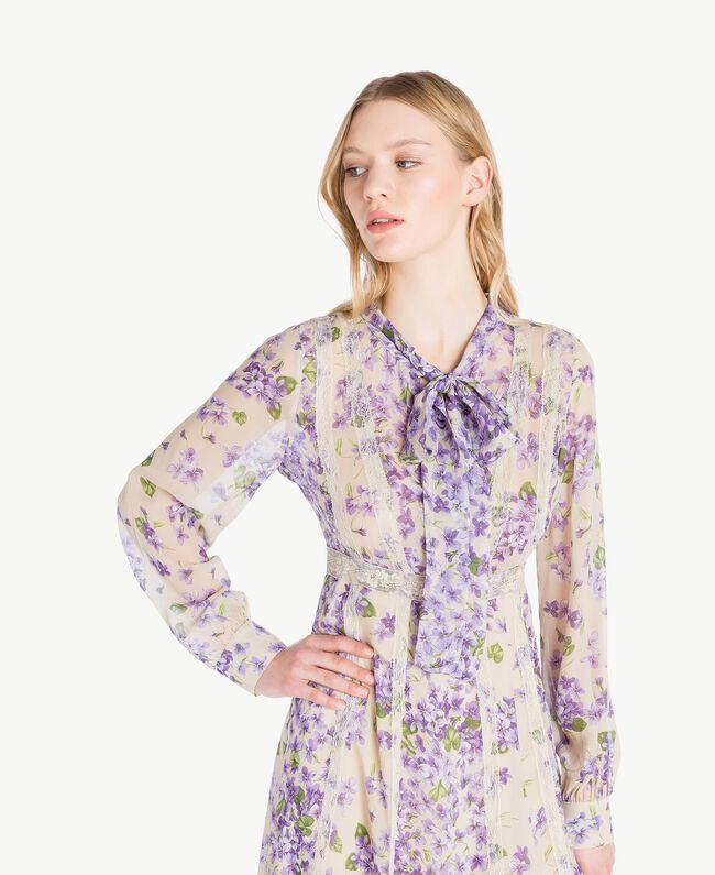 Kleid mit Print Printmix Veilchenlila Frau PS82X1-04