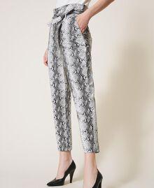 Animal print faux leather trousers Walnut / Tobacco Snakeskin Print Woman 202TT2225-04