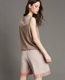 """Shorts in popeline con inserti in rete Grigio """"Grey Dust"""" Donna 191LL23SS-03"""