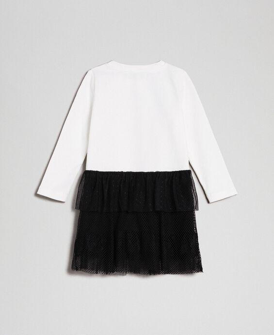 Robe avec imprimé et jupe volantée