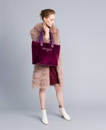 Long fur coat Light Pink Woman PA82LE-0T