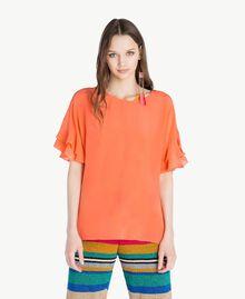 Blusa de seda Naranja Mujer TS827B-01