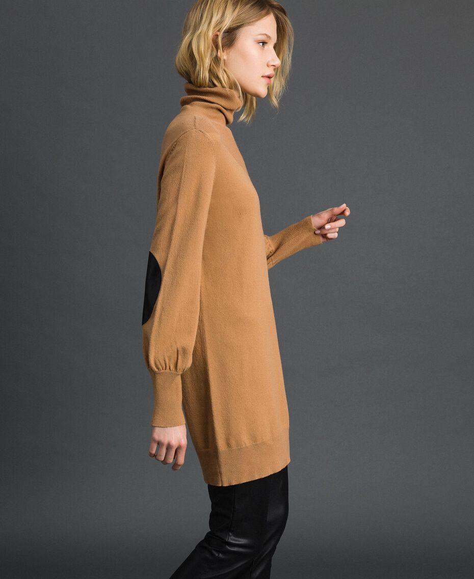 Maxi pull en laine et cachemire Beige «Séquoia» Femme 192ST3152-02