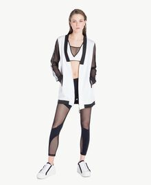 Mesh bomber Optical White / Black Woman LS87DD-02