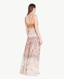 Robe longue imprimé Imprimé Patch Rose Vegas Femme BS8AMM-04