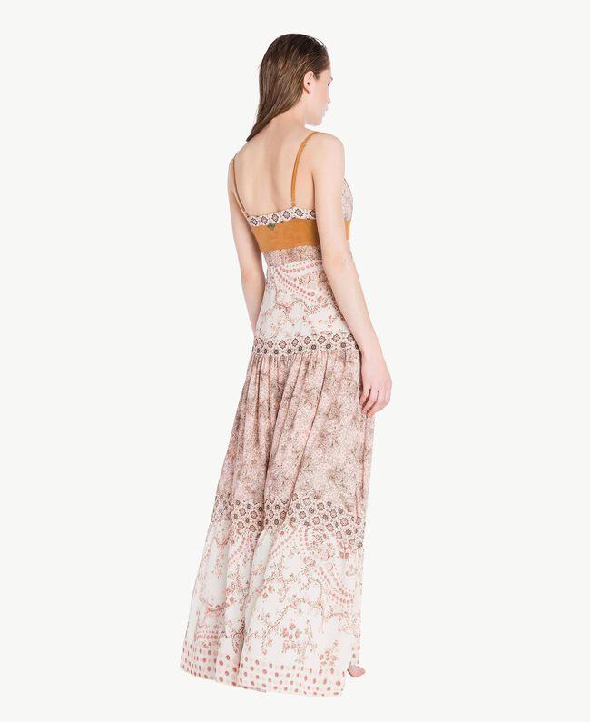 Long printed dress Vegas Pink Patch Print Woman BS8AMM-04