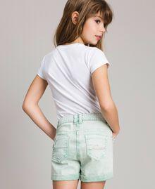 """Bull délavé shorts """"Island Paradise"""" Light Blue Child 191GJ2491-03"""
