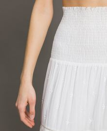 Skirt-dress with broderie anglaise White Woman 191LB2EDD-04
