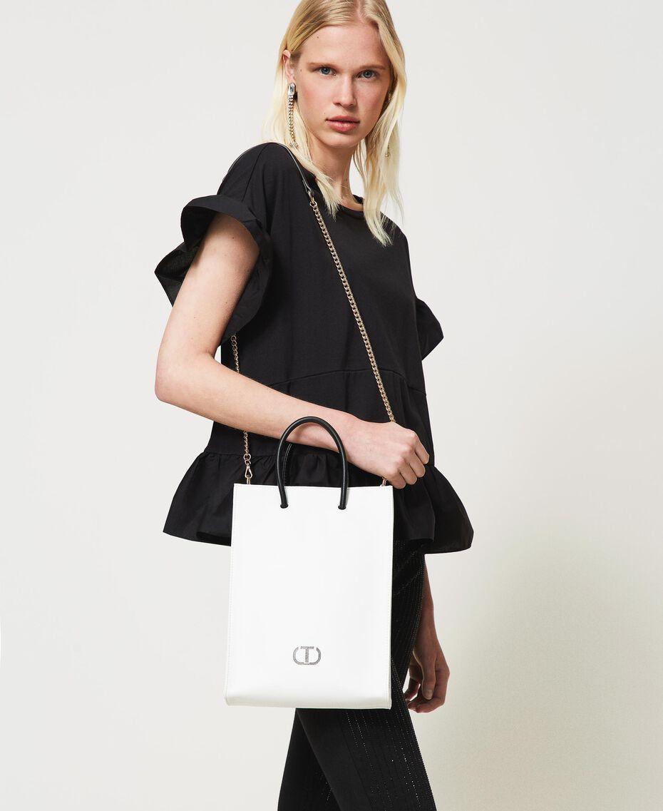 Shopper with printed logo White Woman 211TD8091-0S