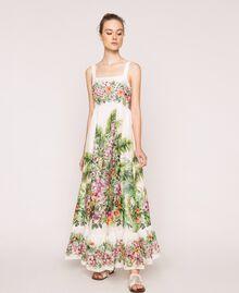 Vestido largo con estampado de flores Estampado Jungle Flowers Nieve Mujer 201TT2483-02