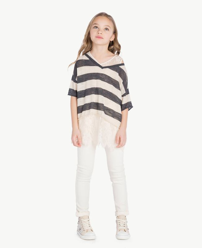 Skinny trousers Pale Cream Child GS82CP-06