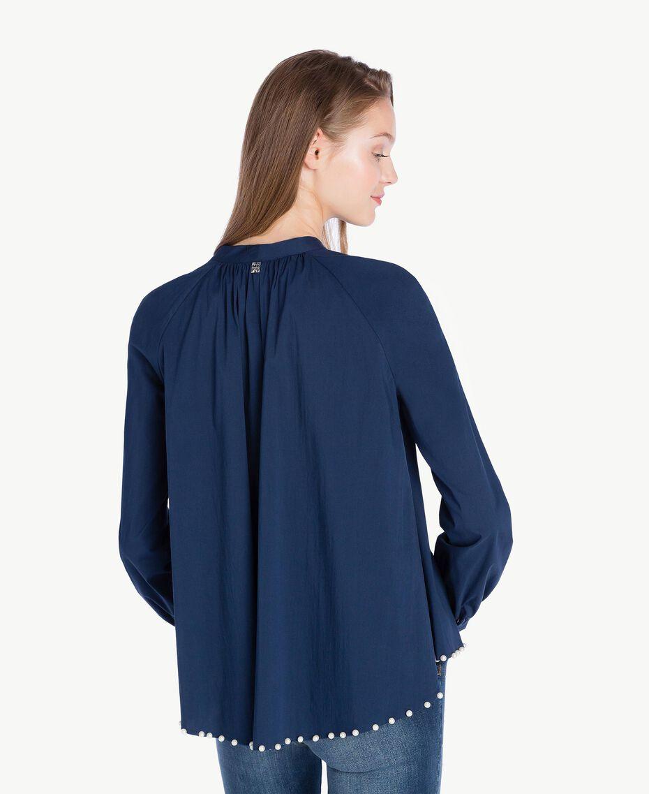 Chemise perles Bleu Nuit JA72TN-03