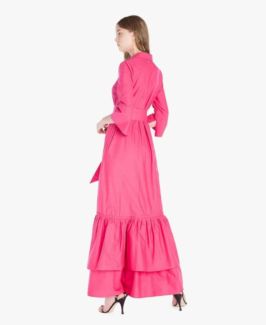 Langes Kleid aus Popeline Provocateur Pink Frau TS821B-03