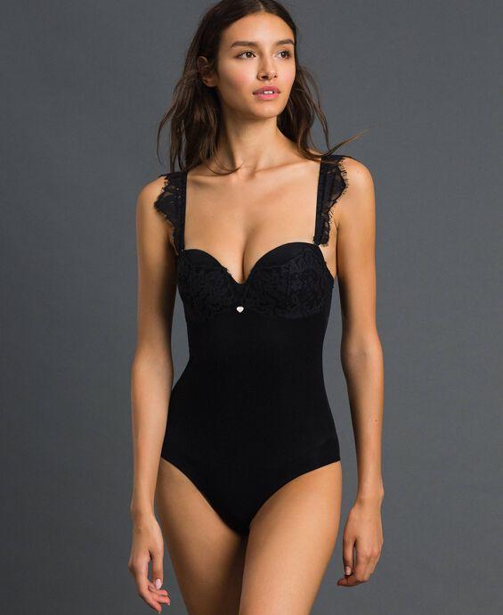 Lace bandeau bodysuit