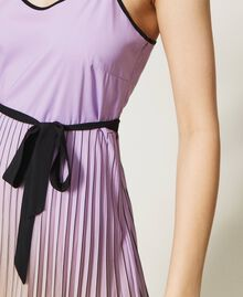 """Pleated dress with fadeout print """"Sweet Lilac"""" Purple Fadeout Multicolour Woman 211LL2MLL-05"""