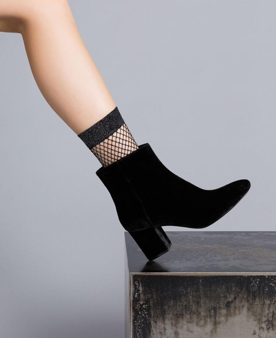 Velvet ankle boots Black Woman CA8THJ-0S