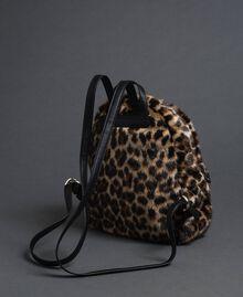 Sac à dos en fausse fourrure avec imprimé animalier Animalier Femme 192MA7032-02