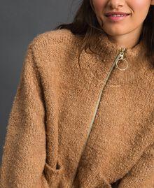 Blouson en maille bouclée Beige «Camel Skin» Femme 192LI3KDD-04