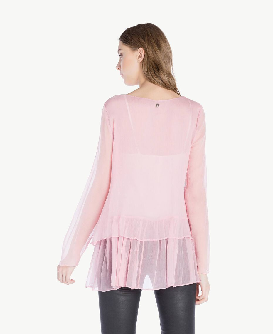 Bluse aus Seide Rosa Hortensie Frau PS8224-03