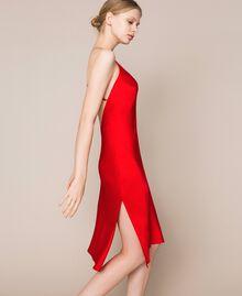 Satin slip Pomegranate Red Woman 201LL23YY-01