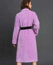 "Double breasted coat with lapels and belt ""Wisteria"" Purple Woman 192ST2180-04"
