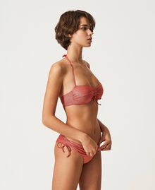 """Бюстгальтер-бандо бикини с люрексом Красный """"Коралловый люрекс"""" женщина 211LMMLXX-01"""