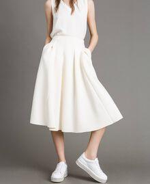 """Full scuba skirt """"Silk"""" White Woman 191TP2065-02"""