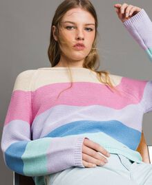 Striped top with heart detail Multicolour Pastel Colour Woman 191MP3011-01