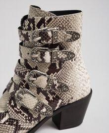 Bottines santiags en cuir imprimé animalier Imprimé Python Roche Femme 192TCT06E-04
