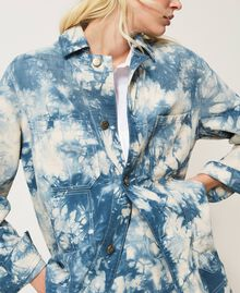 "Tie-dye jacket ""Snow"" White / Light Blue Tie Dye Woman 211TT2544-06"
