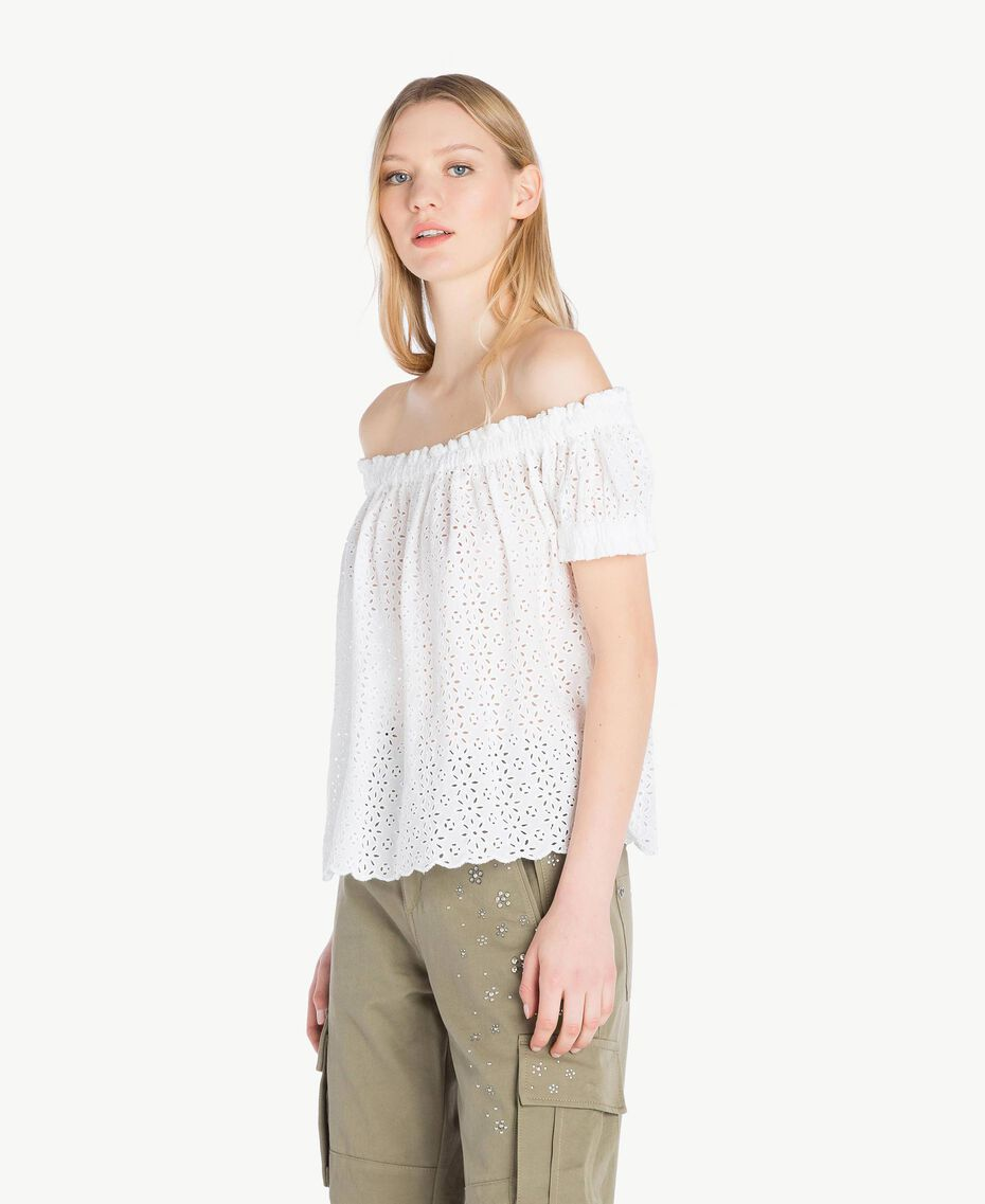Blouse broderie anglaise Off White Femme YS82CD-02