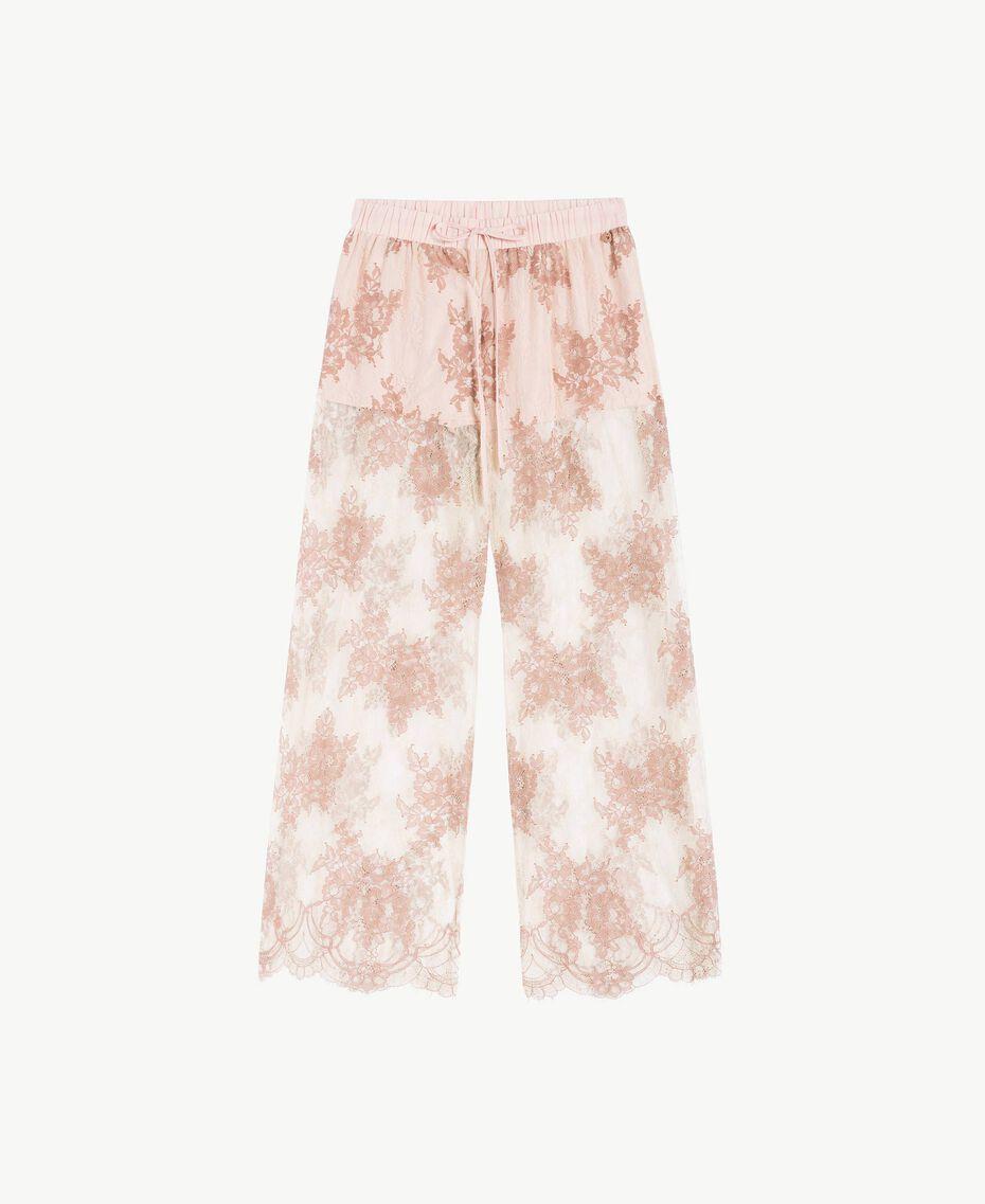 "Lace trousers ""Dusty Cream"" Beige Lace Woman LS8FEE-01"