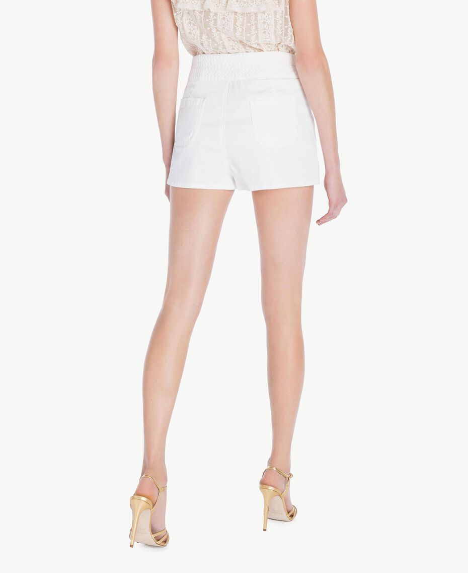 Shorts aus Baumwolle Weiß Frau TS82GC-03