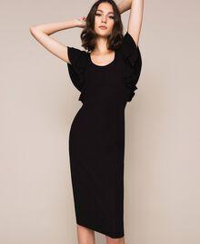 Sheath dress with frills Black Woman 201ST2149-01