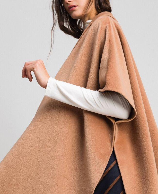 """Velour wool cape """"Camel Skin"""" Beige Woman 192LI2DDD-04"""