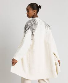Maxi cardigan with sequins and fringes White Snow Woman 192TT3230-06