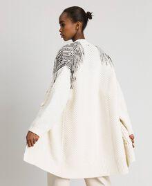 Длинный кардиган с бахромой и пайетками Белый Снег женщина 192TT3230-06