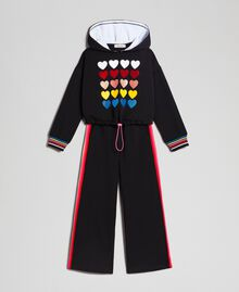 "Hoodie and trousers ""Papers"" White Child 999GJ2013-0S"