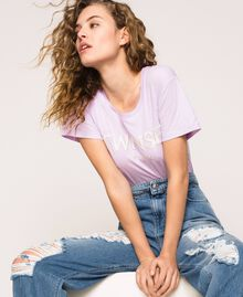T-shirt avec logo brodé Violet «Ballerine» Femme 201TP2081-05