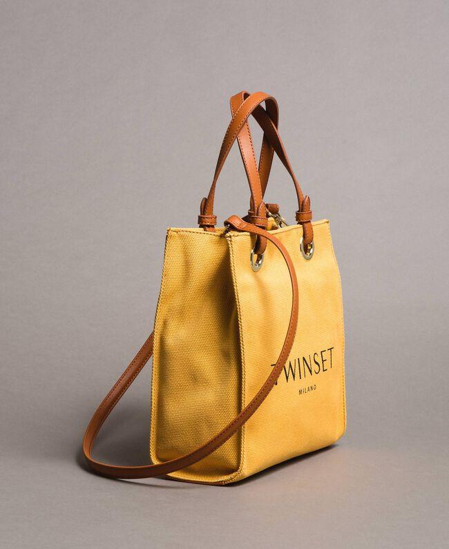 """Kleiner Shopper aus Canvas mit Logo """"Honey Gold"""" Frau 191TO8201-01"""